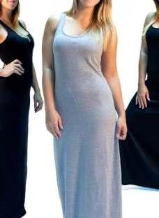Vestido Musculoso Maxi Liso Algodón Talle 1 Al 7 Fabricantes