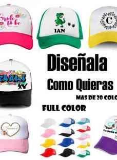 Gorra Trucker Personalizada Final $91 Sublimacion Full Color