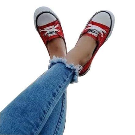 Zapatos Zapatillas Mujer Chatitas  Baja Art Star Guillermina