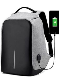 Mochila Antirrobo Smart Carga Usb Notebook Tablet Celular