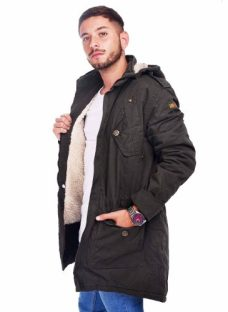 Customs Ba Camperas Parka Hombre Corderito Gabardina Full