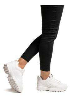 Zapatillas Mujer Moda Con Plataforma Blancas Sneakers