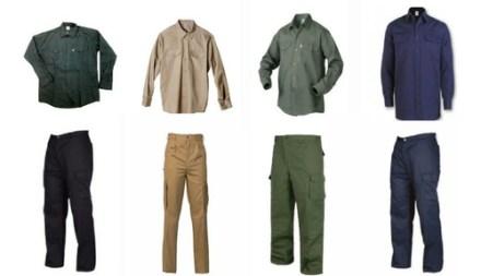 Pantalon Cargo Y Camisa Trabajo Para Trabajo Triple Costura