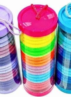 Set De Colitas En Tubo Varios Colores X3 Regaleria Pacho's