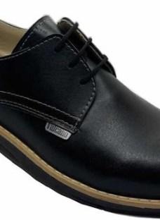 Zapato Acordonado Simil Cuero