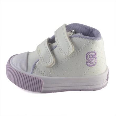 Botita Bebe Abrojo Ecocuero Blanco-lila Small Shoes