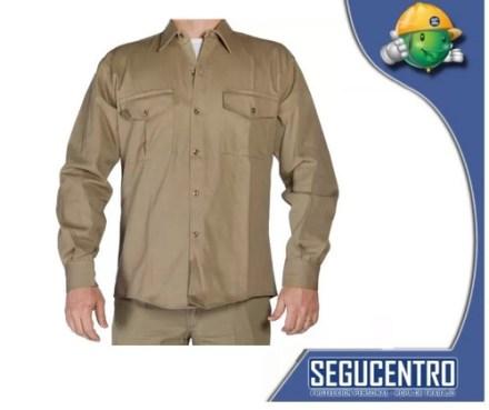 Camisa Trabajo Tipo Ombu Beige- Azulino Local Centro