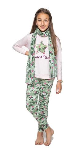 Pijama De Invierno Para Chicas Nenas Estrella 707