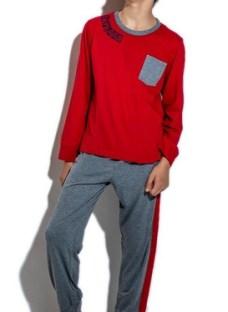 Pijama Junior Invierno Con Franja Lateral Eyelit