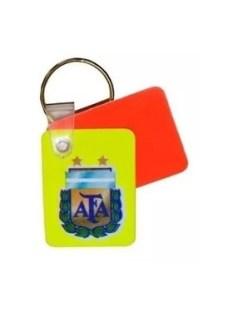 Llavero Mini Tarjetas Para Arbitros Afa Fifa Fair Play Juego