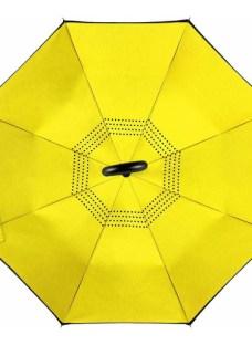 Paraguas Invertido Upside Down Umbrella Uv Todos Los Colores