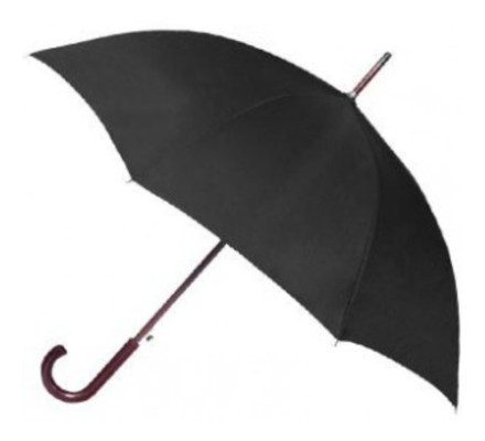 Paraguas Ejecutivo Mango Curvo Madera Apertura Automatica