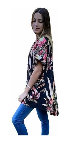 Kimonos Estampados Saco Corto De Poplin Chuva Ropa