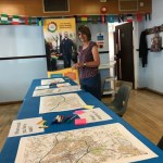 Sue sets up the workshop in Barton