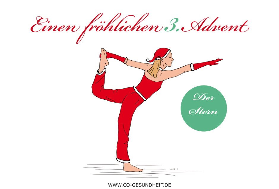 3. Advent Yoga Übung- Der Stern
