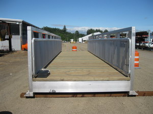 Pre-fabricated pedestrian bridge in county  operations yard