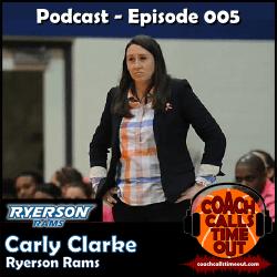 Carly Clarke, Ryerson Rams - Coach Calls Timeout Basketball Coaching Podcast