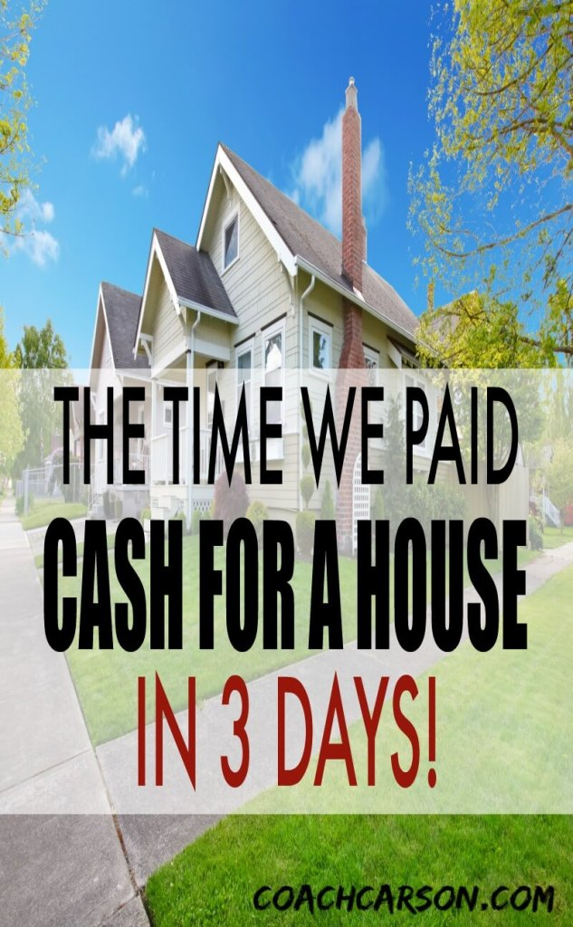 cash for a house in 3 days - title and house in background
