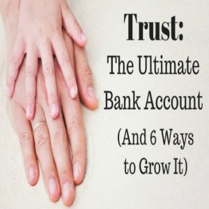 two hands - trust - the ultimate bank account
