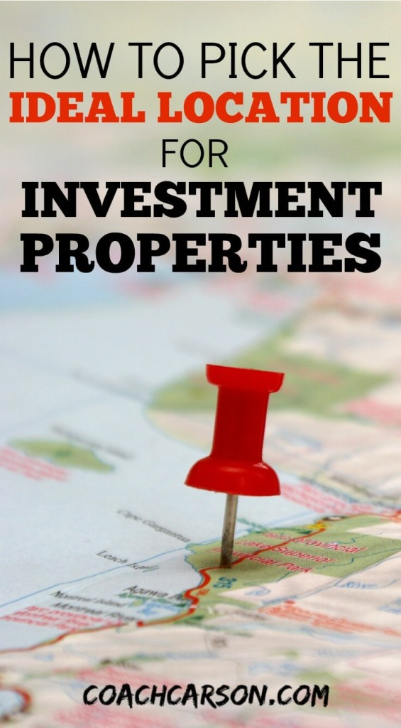 How to Pick the Ideal Location For Investment Properties - pushpin on a map