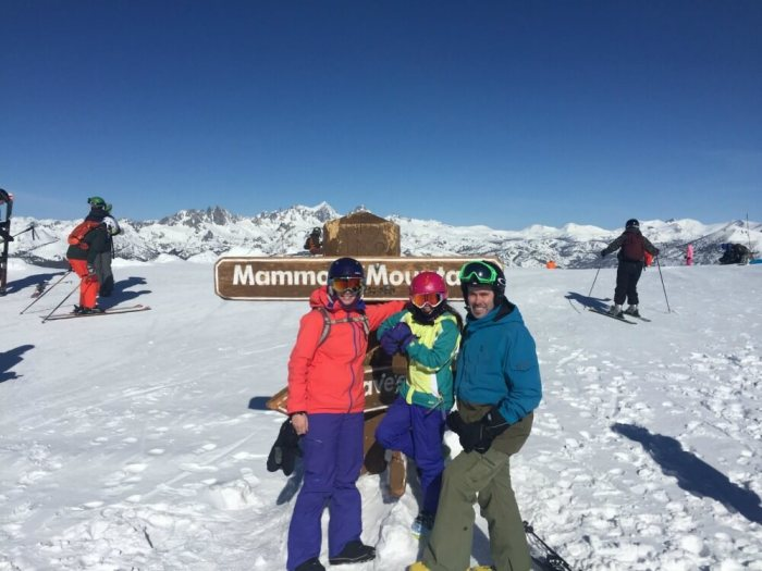 Financial Independence Using Real Estate Crowdfunding Loans - Family at the Top of Mammoth Mountain Last Year