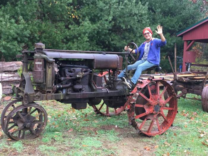 Old tractor - He Left His 9-to-5 Job Using Vacation Rentals Near New York City