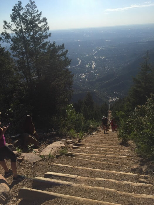 stairs up Pikes Peak - - From Corporate Career to Financial Independence in His 50s