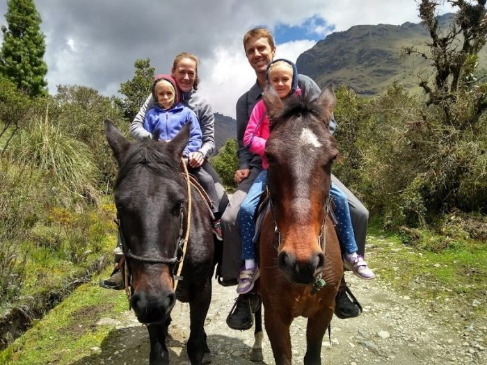 Chad and family on horse in Ecuador - What Suze Orman Got Wrong About the FIRE Movement