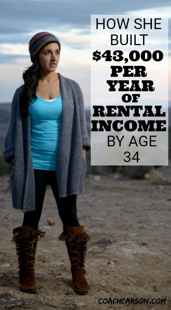 How She Built $43,000 Per Year of Rental Income by Age 34 - Pinterest Image