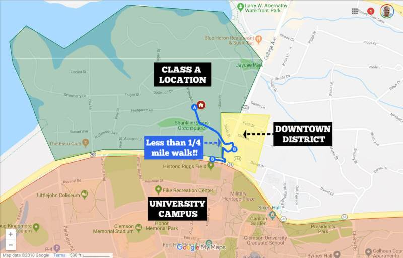 map of Class A location - Where to Buy an Investment Property