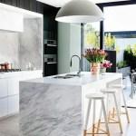 Piedra natural en la cocina
