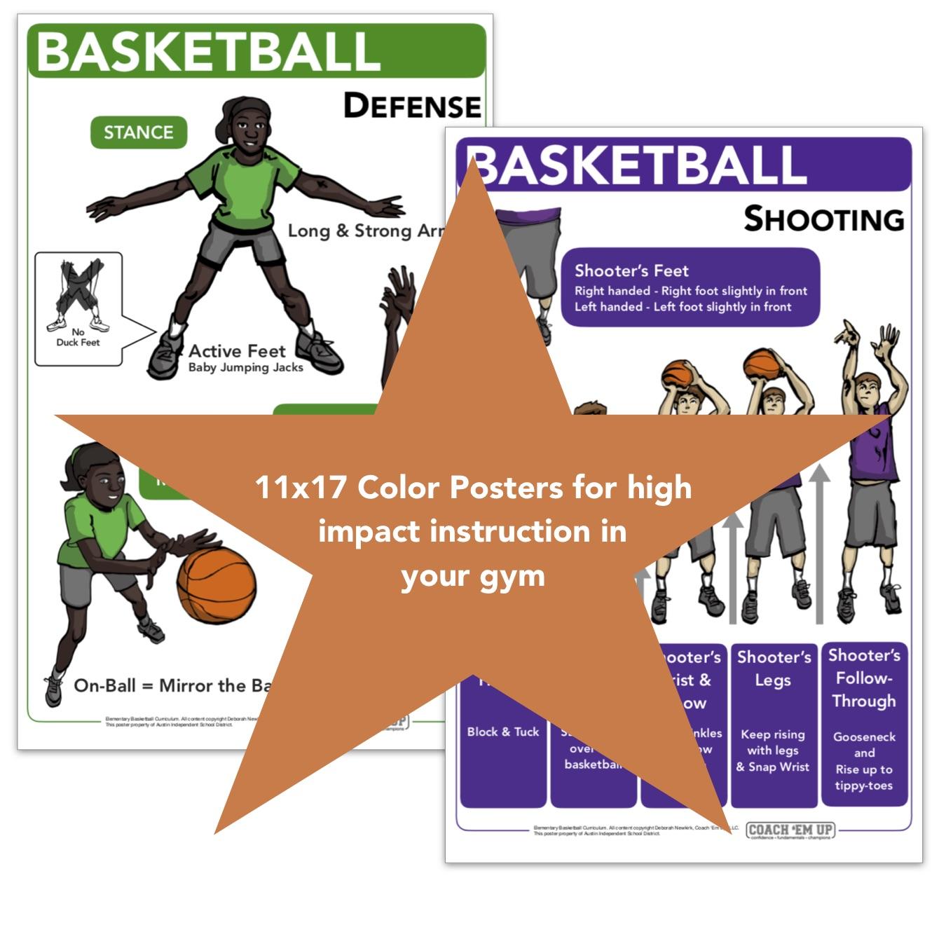 Coach Em Up Elementary Basketball Curriculum For School