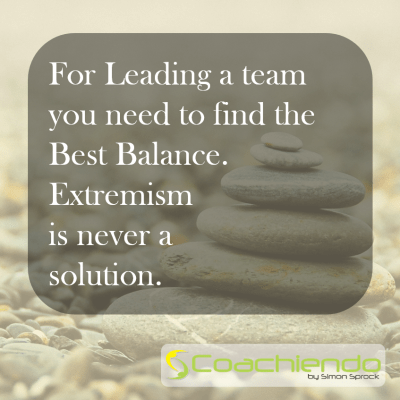 Find the Balance in Leadership