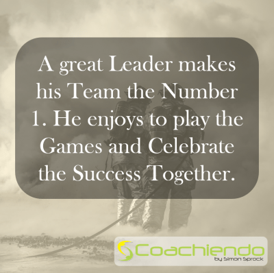 A great Leader makes his Team the Number 1. He enjoys to play the Games and Celebrate the Success Together.
