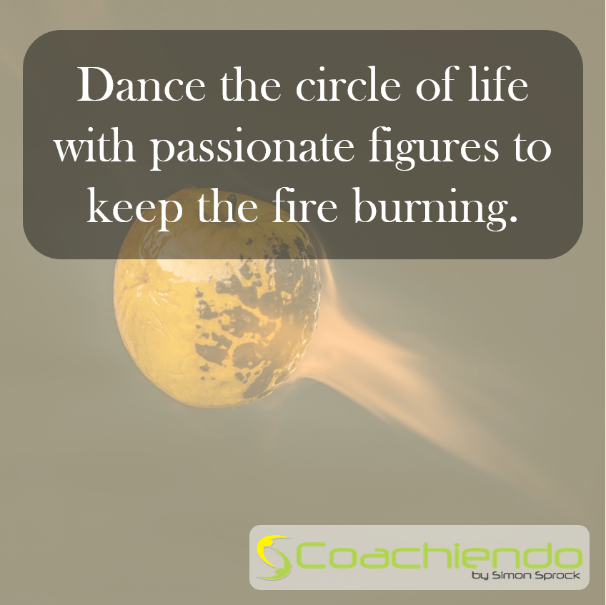 Dance the circle of life with passionate figures to keep the fire burning.