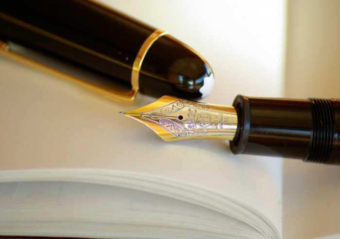 Afbeelding van een vulpen op een boek gevonden op coachingmetsanne.com life coach Den Haag en oefening voor goede start nieuw jaar