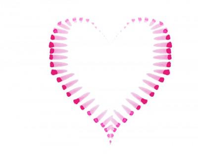 Afbeelding van een hartje geschilderd op www.coachingmetsanne.com life coaching Den Haag over relatie en relatie advies.
