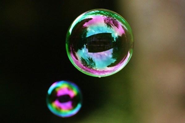 Het perfecte plaatje leren loslaten, afb zeepbel