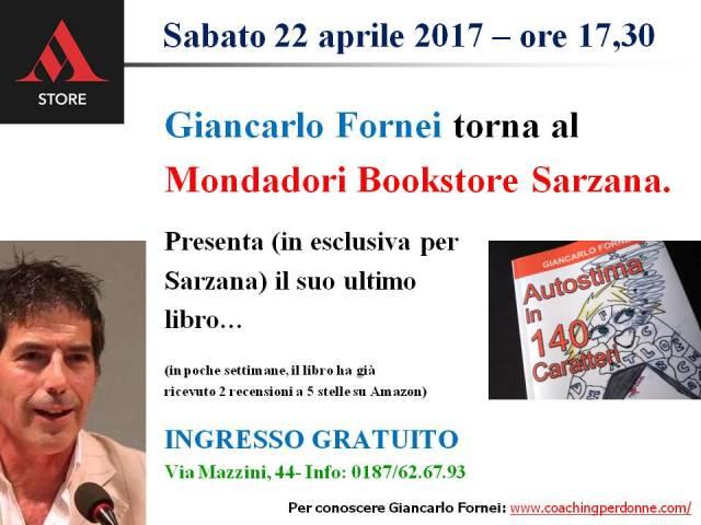 Sarzana - presentazione Autostima in 140 Caratteri al Mondadori Bookstore - 22 aprile 2017