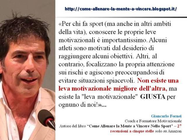 Leve motivazionali - VERSO-VIA DA - una frase del coach motivazionale Giancarlo Fornei - 15 ottobre 2017