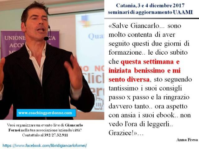 UAAMI Catania 3 e 4 dicembre 2017 - la recensione di Anna Fresa dopo aver partecipato ai seminari di Giancarlo Fornei