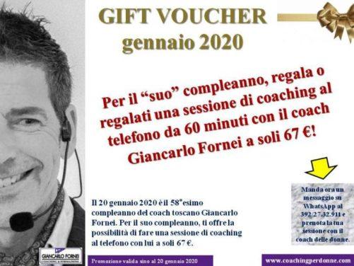Gift Call Coaching gennaio 2020: con il coach motivazionale Giancarlo Fornei!