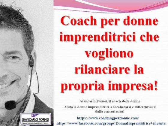 Coach per donne imprenditrici che vogliono rilanciare la propria impresa!