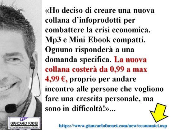 """Nasce la nuova """"Collana Economica"""" di Giancarlo Fornei…"""