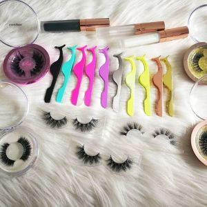 How to paste false mink eyelashes without large trace?