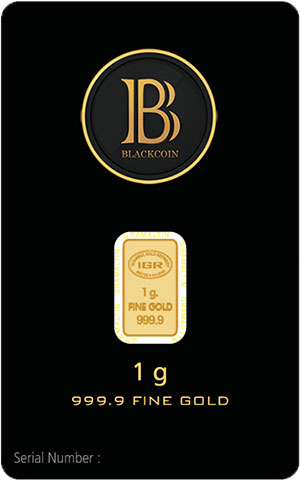 999.9 Fine BlackCoin Gold Bars