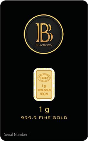 999.9 Fine BlackCoin Gold Bars