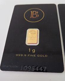 BlackCoin 999.9 Fine Gold Bars