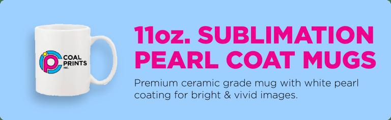11oz. Sublimation Pearl Coat Mugs