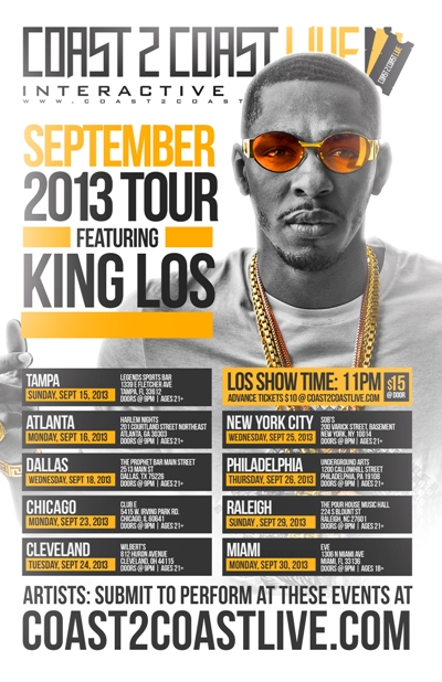 Coast 2 Coast LIVE September Tour Feat. King Los